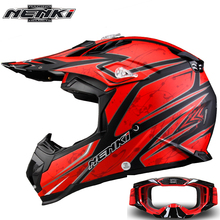 NENKI Fashion Motocross Full Face Helmet Extreme Sports Motorcycle ATV Dirt Bike MX BMX DH MTB Racing Helmet with Goggles 315(China)