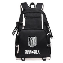 2017 Backpacks for women Fashion Canvas Backpacks Attack On Titan Japanese  Anime Schoolbags for teenager Unisex c1153feac7