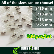 100pcs/lot 3mm/4mm/5mm Jig Fishing Lure Glass Rattles Insert Tube Rattles Shake Attract Fly Tie Tying Fishing rattle(China)