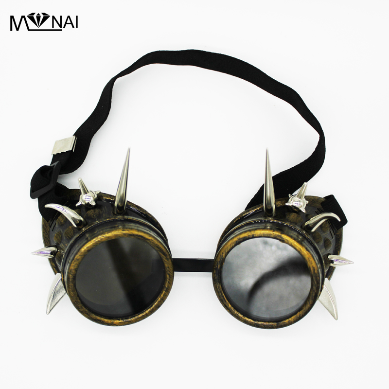 Punk Cosplay g/ótico Glomab Gafas Retro G/óticas Estilo Vintage Steampunk Vintage para Soldadura Halloween