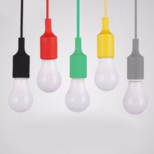 Fashion Decoration E27 Silicone Ceiling Lamp Holder Pendant Light Bulb Socket 5 Colors Optional Wholesale(China)