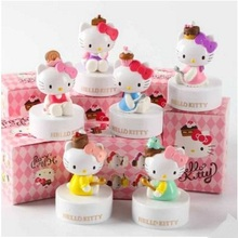 Mini 6pcs/lot Hallo Kitty Super Cute Desserts Series Chocolate Party PVC Action Figure Toys Classic Collection For Kids Gift