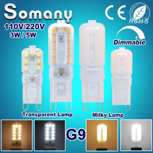 Dimmable G9 LED Lamp 110V 220V 3W 5W Bombilla 350LM 550LM Bulb Lampada G9 Spotlight for Crystal Chandelier 50-100W Halogen Light