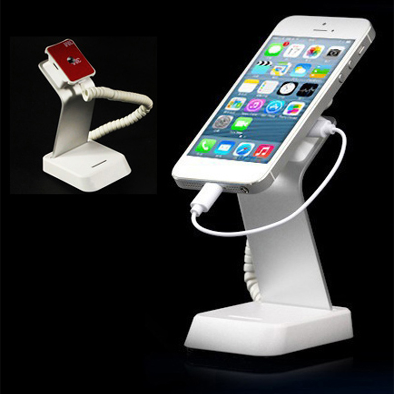 10xMobile phone security stand cell phone display holder iphone alarm charging device anti theft bracket for retail phone shop<br>