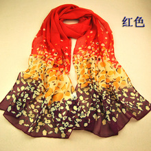 SW305 women's scarf leopard scarf print long shawl cape silk chiffon tippet muffler 2014 new design pashmina Leopard Scarves
