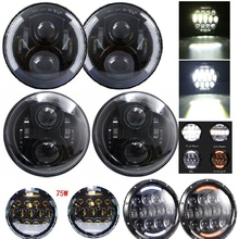 Angel Eyes 7'' LED Headlight 7inch Universal Led Head light For Jeep Wrangler CT TJ JK Miata 4x4 Off road Led Headlamp