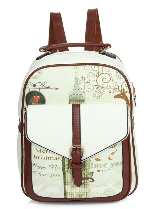 High quality PU leather backpack school bags for teenagers girl small backpacks women vintage college European style bag<br>