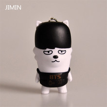 BTS bulletproof youth group members small dolls mobile phone pendant key chain new fashion pendant key chain