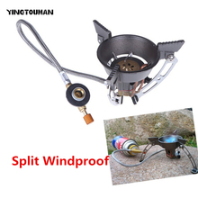 BRS-11 Portable Windproof Outdoor Gas Burner Camping Stove Gas Cooker Hiking Climbing Picnic Gas Burners With Adapter Gas Stove(China)
