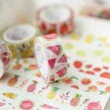 Summer Fruit Time Washi Tape Adhesive Tape DIY Scrapbooking Sticker Label Masking Tape(China)