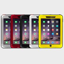 For iPad Air 1 2 Case Original Love Mei Aluminum Shockproof Case For iPad Air 2 1 Cover Hard Waterproof Case For iPad Air 1 2(China)