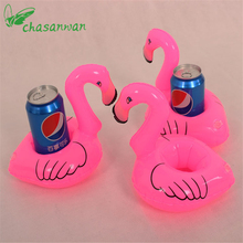 10PCS Mini Pink Flamingo Inflatable Drink Holders Floating Toy Pool Can Party Bath Bachelorette Party Supplies Free Shipping,S