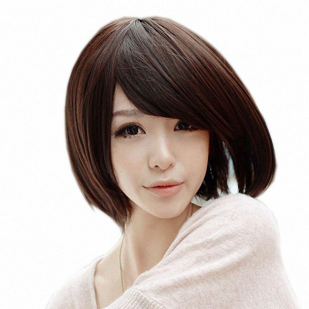 Love Fashion Womens Fashion Wig Straight Short Hair Wigs With Bangs Hair Short Hair Wig HB88<br><br>Aliexpress