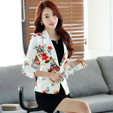 Ladies Short Suit Jackets In Women Blazer Elegant Double Breasted Blazer Women Business Suit Blouson Femme Casual Tops 60N0009(China)