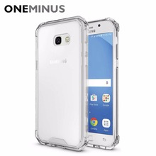 OneMinus Anti knock Clear Protective Case For Samsung Galaxy A3 A5 A7 2017 Case Coque Shockproof Hard back cover Fundas(China)