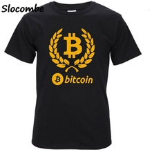 Buy Bitcoin Tee Shirt Homme De Marque Short Sleeve Summer Fashion Funny T Shirts Virtual Currency Casual 4XL Tshirt Men for $8.28 in AliExpress store