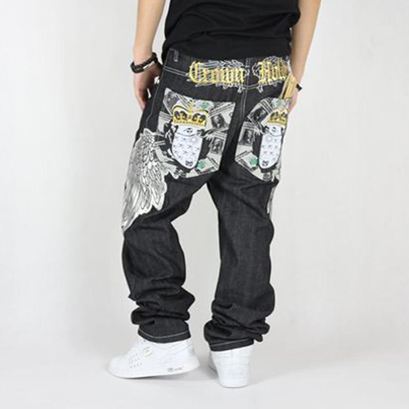 New Arrival Designers Mens Baggy Hip Hop Cotton Denim Jeans Mens Loose Fit With Embroidery Clothing Men Plus Size 40 42 44Îäåæäà è àêñåññóàðû<br><br>