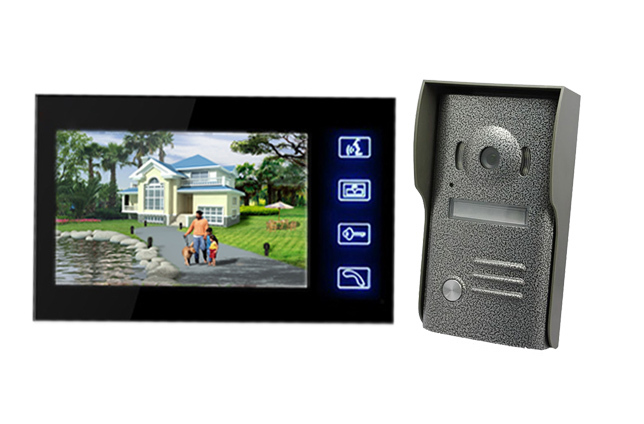 2016 Sale  Wholesale Wired Touch Key Home Security Video Door Phone Intercom Doorbell Camera With 7lcd Monitor free shipping<br><br>Aliexpress