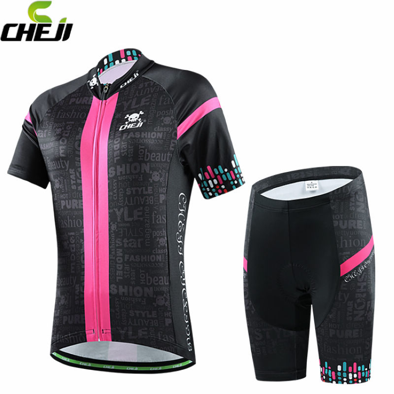 CHEJI 2017 Women Cycling Jersey Short Sleeve Jersey Ropa Ciclismo Bike Bicycle Clothing For Spring Summer Autumn CC1526<br><br>Aliexpress
