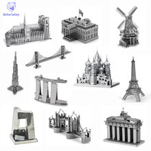 Hot World Building Jigsaw Puzzle 3D Metal Puzzle Canadian TV Tower U.S. Congress Notre Dame de Paris Puzzle Adult / Child