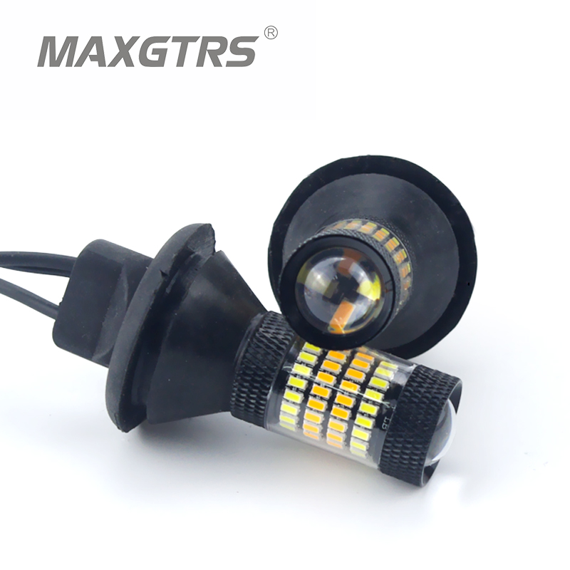 2X T20 7440 W21W LED Dual Color White/Amber Yellow Switchback Turn Signal Light + Canbus Error Free Decoder Load Resistor W21W<br><br>Aliexpress