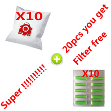20Pcs/Lot For MIELE FJM C1 & C2 Synthetic Type Hoover Hepa Vacuum Cleaner DUST BAGS With free FILTERS(China)