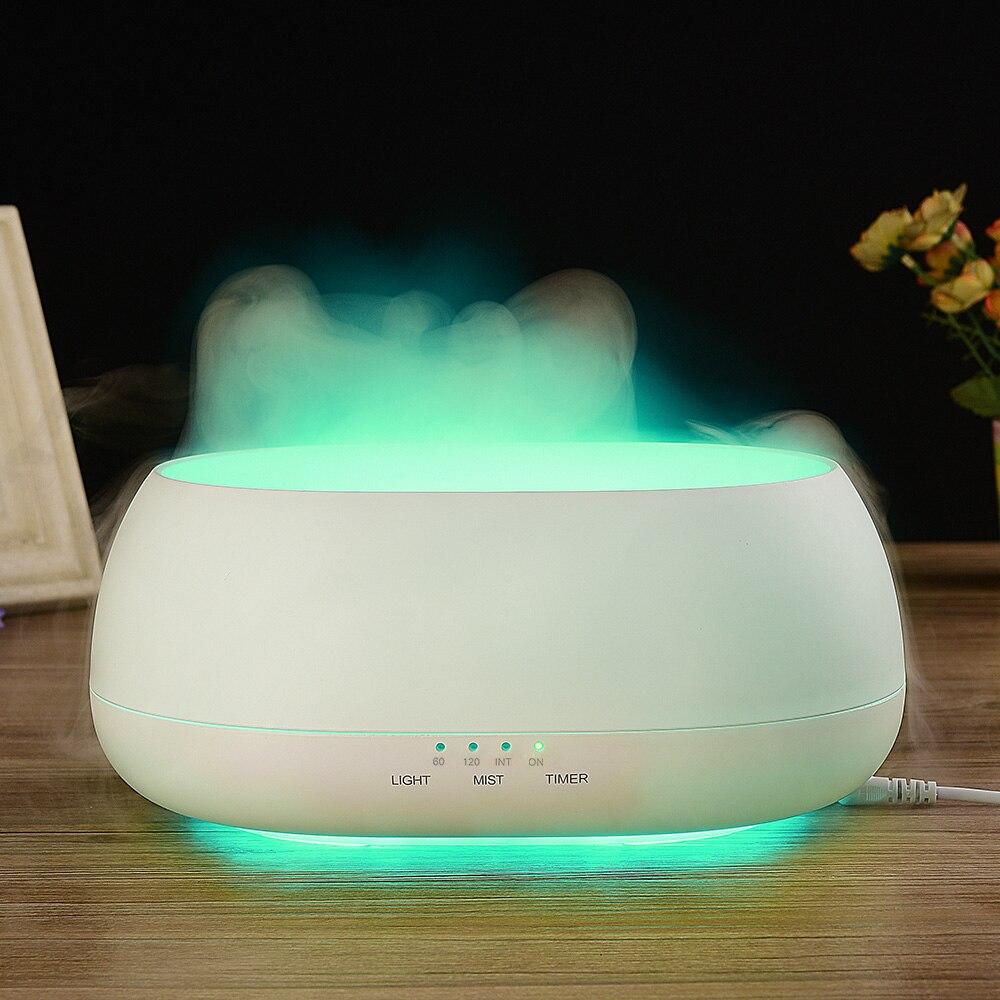 Fimei 500ml Air Humidifier Remote Control Ocean Mist Wood Grain Electric Aroma Diffuser Night Light Oil Diffuser Aromatherapy<br>