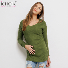 Women christmas Sweaters Fashion Autumn Winter Sweater 2017 Women Loose Pullover Casual Solid Sweater jersey mujer Pull Tops(China)