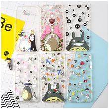 Totoro Case for iPhone 7 7plus Soft TPU Back Case No Face Man Phone Cover Free Shipping