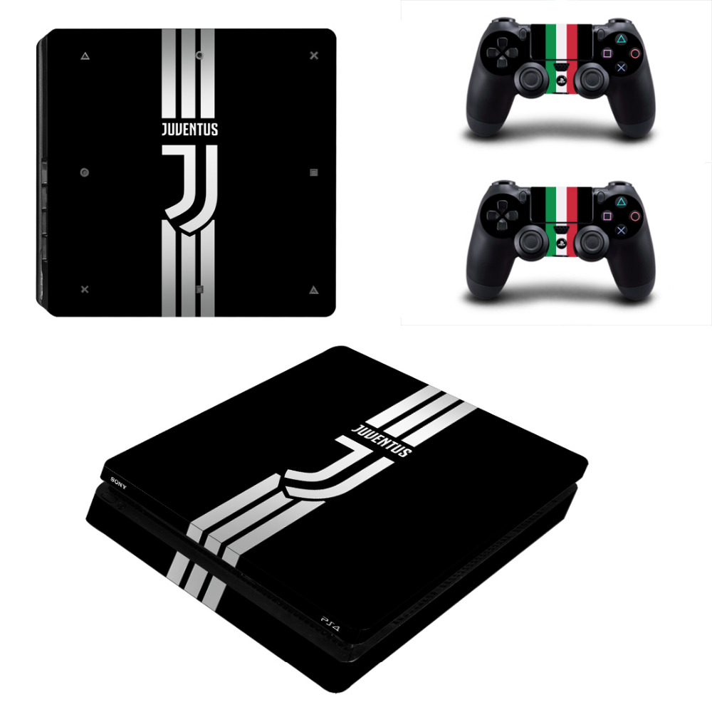 Juventus Football Club PS4 Slim Skin Sticker Sony PlayStation 4 Console Controllers Dualshock 4 PS4 Slim Sticker