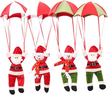 Christmas Tree Ornaments 3D Santa Claus Tree Umbrella Pendants Hanging Decor Xmas Pendant Ornament Enfeites De Natal Kerst(China)