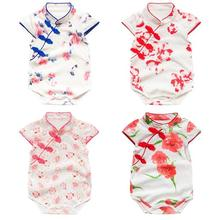 Cotton Newborn Baby Clothes Short Baby Romper for Summer Bow Baby Jumper