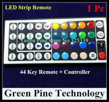 Free shipping 1 pc LED strip RGB controller 44 key Remote Controller audio control Sound induction for SMD 5050 3528 RGB Strip