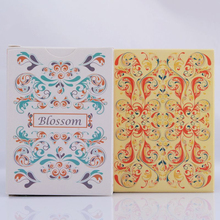 1 Deck Blossom Spring Platinum Metallic Ink Stock LINOID FINISH USPS Yellow or Green Poker Playing Card Magic Trick 81251(China)