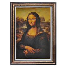 Hand Painted Italy Famous Oil Paintings Reproduction Leonardo Da Vinci Mona Lisa Home Decor Wall Art Portrait Canvas Painting(China)