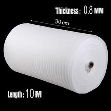 0.3*10m 1Pcs 0.8mm Brand Cushion Foam Wrap Rolls EPE Packing Material Laser Protective Film Cushion Roll Shipping EPE Foam Sheet