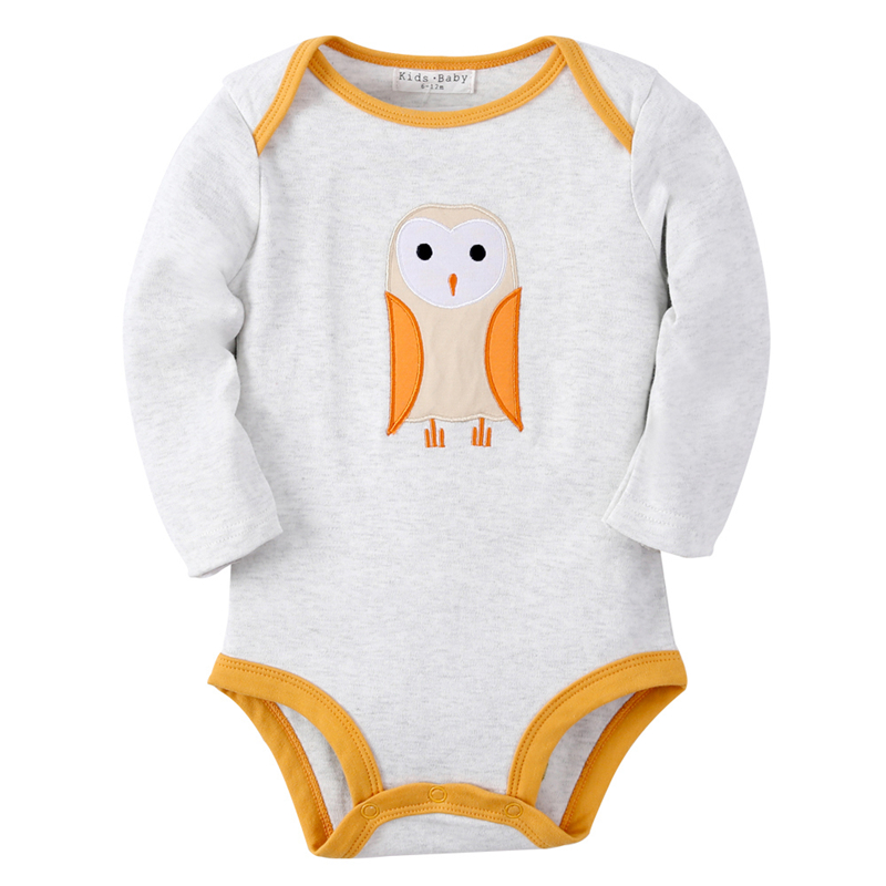 Fillwell Winter Baby Clothing Infant Newborn Baby Rompers Owl Pattern for Girls Boys Baby Clothes Long Sleeve Jumpsuits 717