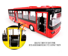 1:50 open door music with led Warrior car bus baby gift toy for child alloy car model high quality cool