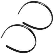 FS Hot 2 Pcs Black Plastic Frame Dual Row Teeth Hair Hoop Head Band for Girls