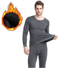 Winter long johns thick thermal underwear sets keep warm for Russia Canada and Europe men(China)