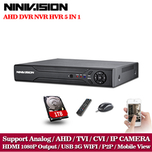 NINIVISION HD CCTV surveillance 16ch AHD 1080N 720P recording security DVR HDMI 1080P 16 channel DVR NVR WIFI video Recorder