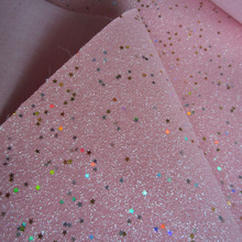 30cm x 138cm fine glitter fabric baby pink with gold stars for wallpaper of child bed room shinygliter for decoration AY036