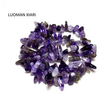 "Wholesale AAA 10-15 mm Stick Shape Amethysts Quartz Natural Beads Materials Loose Strand 15""DIY Necklace For Jewelry Making(China)"