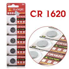 11.11 5pcs/Lot CR1620 1620 ECR1620 DL1620 280-208 3V Cell Battery Button Battery,Coin Battery lithium battery For Watches,clocks
