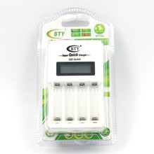 LCD Fast Quick Speed Smart Charger for AA AAA Ni-Cd Ni-Mh Rechargeable Battery BTY N-903