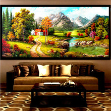 Beautiful scenery Diy diamond painting 5D round dill embroidery cross stitch canvas mosaic big living room decoration picture