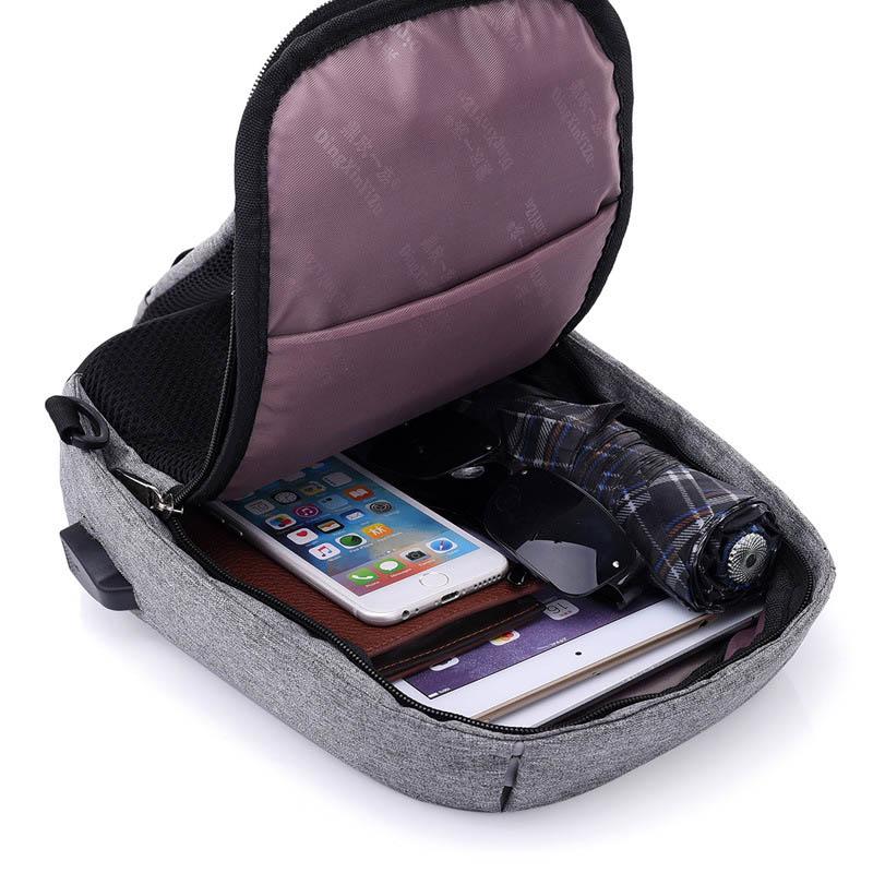 Men Anti Theft Backpack USB Rechargeable Crossbody Women Bags Boys Girls Single Shoulder Bag Backpacks Sac A Dos Homme BP0205 (8)