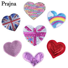 Prajna Heart Star Bling Sequin Patch Applique Embroidery Iron On Patches  For Clothes T-Shirt Badge Kids Clothing DIY Stickers D 8a7cbaa1bbf4