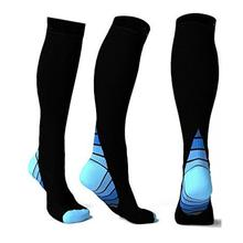 Compression Unisex Athletic socks knees soccer ball/cycling sports Socks compress stockings Travel Boost knee sock S/L #10