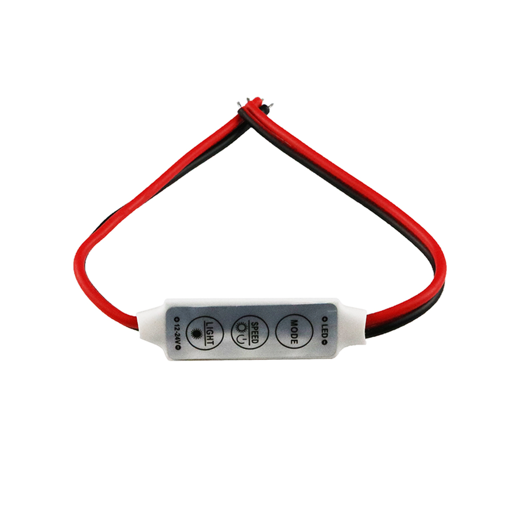 NEW-12V-Mini-3-Keys-Single-Color-LED-Controller-Brightness-Dimmer-for-led-3528-5050-strip
